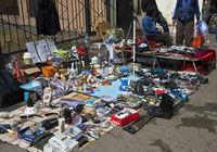 Flohmarkt in den Strassen von Almaty