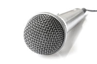 Microphone with cable isolated on white background
