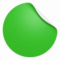 Blanko Aufkleber freigestellt - Rund Grün