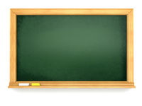 Blackboard or chalkboard on white isolated background.