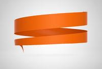 Circular Werbebanner Orange