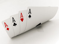 four aces cards
