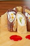 pancake roll with marmalade