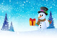 Winter snowman theme image 8 - picture illustration.