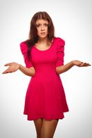 angry evil girl dissatisfied woman haired