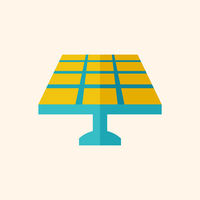 Solar Energy Flat Icon