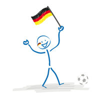 Stickman German Football Fan