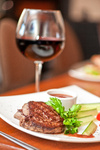 beef meat and wine