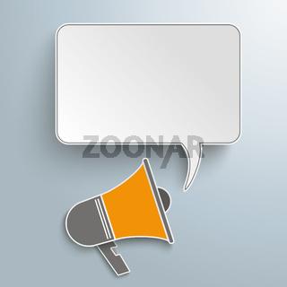 Bullhorn Speech Bubble PiAd