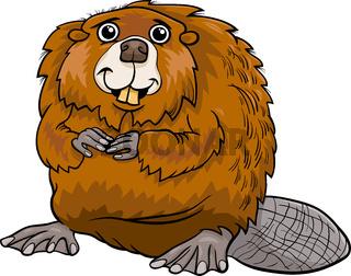beaver animal cartoon illustration