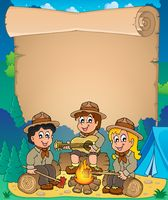 Children scouts theme parchment 1 - picture illustration.