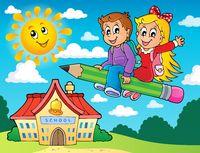 School kids theme image 5 - picture illustration.