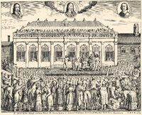 The execution of Charles I, 1600 - 1649, King of England