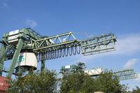 Gantry crane, container harbour Dortmund, Germany