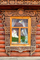 Window decorated with carving