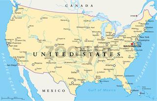 Vereinigte Staaten Landkarte
