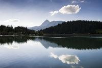 Water reflection lake Haldensee Austria