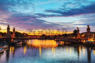 Paris with Aleksander III bridge