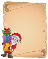 Christmas thematic parchment 6 - picture illustration.