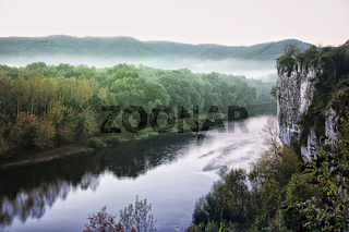 Dordogne-Tal bei Cazoulès, Perigord, Aquitanien, Frankreich