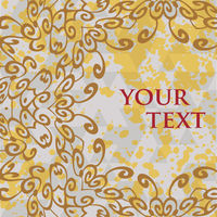 Ornate frame for text in oriental style