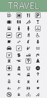 Travel pictograms set