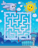 Maze 2 with airplane - picture illustration.