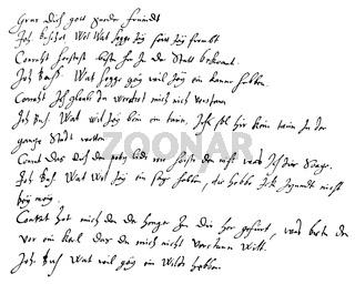 Historical manuscript, 1593, by Heinrich Julius; 1564 - 1613; Bishop of Halberstadt
