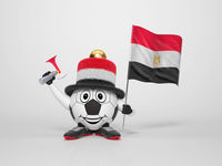 Soccer character fan supporting Egypt