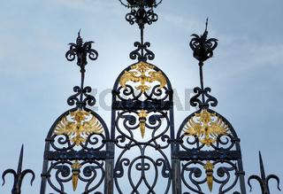 Entrance portal to Schloss Bueckeburg Palace, Germany