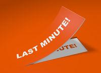 3D Etikett Orange - Last Minute!