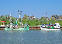 Harbor of Buesum,german north Sea
