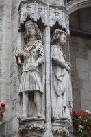 William of Brunswick-Lüneburg and Helen, historic Town hall, Brunswick, Germany