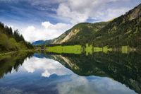 Water reflection lake Vilsalpsee Austria