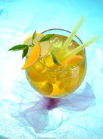 Glas mit Limonade