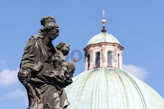 Virgin Mary statue.