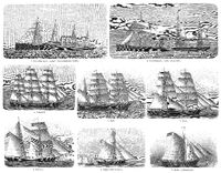 Different types of merchant ships