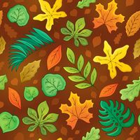 Seamless background with leaves 3 - picture illustration.