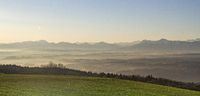 Bavarian Alps in the morning