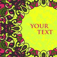 Folk Motif Frame for Text Design