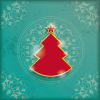 Vintage Background Christmas Tree
