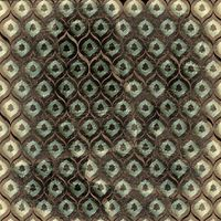 Grunge brown background with ancient ornament. Vintage textile
