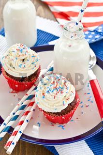 Kleine Cupcake mit Buttercreme