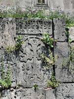 Khachkar in the wall of Haghpat Monastery, Armenia