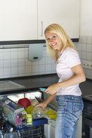Woman admits a dishwasher