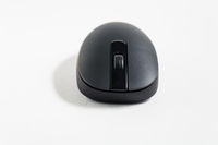 Black pc mouse on white