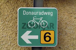 Donauradweg Schild