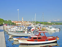 Krk Village on Krk Island,adriatic Sea,Croatia