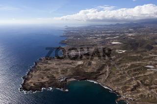 Luftaufnahme der Kueste bei Abades, Teneriffa