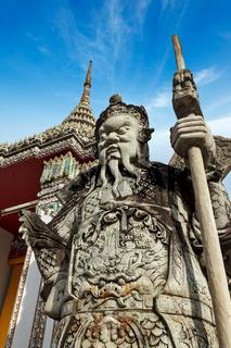 Wat Pho stone guardian, Thailand